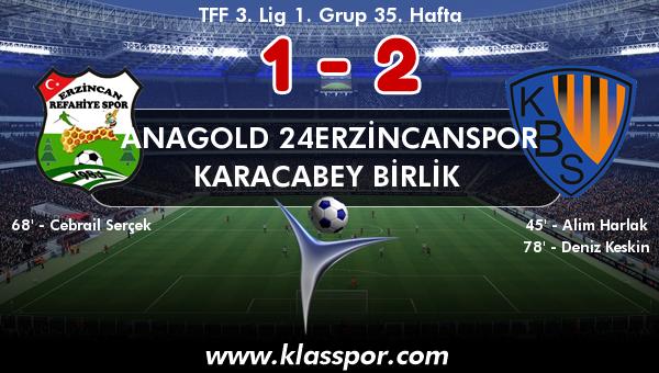 Anagold 24Erzincanspor 1 - Karacabey Birlik  2