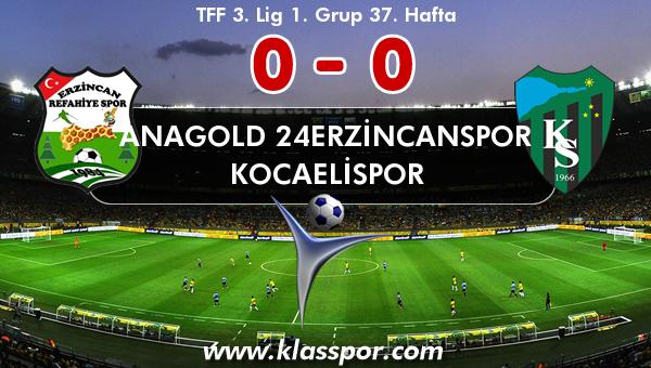 Anagold 24Erzincanspor 0 - Kocaelispor 0
