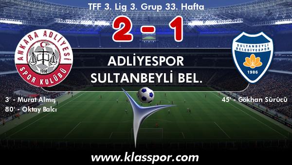 Adliyespor 2 - Sultanbeyli Bel. 1