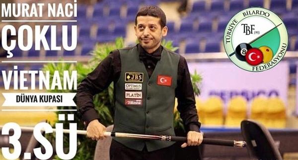 Murat Naci Çoklu'dan üçüncülük