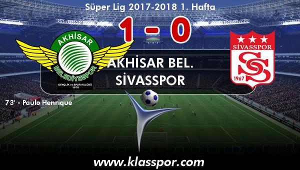 Akhisar Bel. 1 - Sivasspor 0