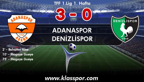 Adanaspor 3 - Denizlispor 0