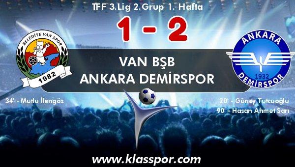 Ankara Demirspor, Van'dan 3 puanla döndü