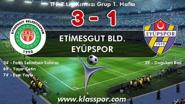 Etimesgut, sezona 3 gol ve 3 puanla başladı