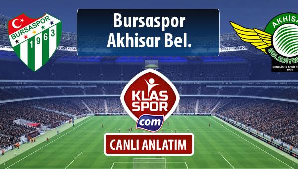 İşte Bursaspor - Akhisar Bel. maçında ilk 11'ler