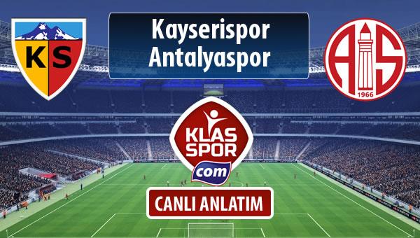 Kayserispor - Antalyaspor maç kadroları belli oldu...