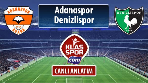 İşte Adanaspor - Denizlispor maçında ilk 11'ler