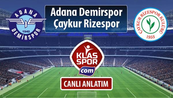 Adana Demirspor - Çaykur Rizespor sahaya hangi kadro ile çıkıyor?