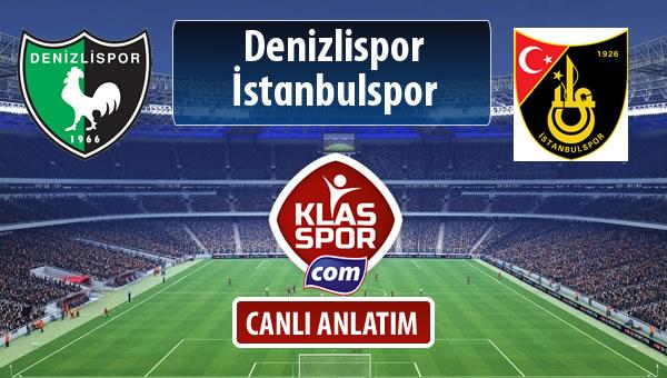 Denizlispor - İstanbulspor maç kadroları belli oldu...