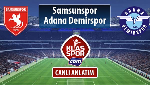 Samsunspor - Adana Demirspor maç kadroları belli oldu...