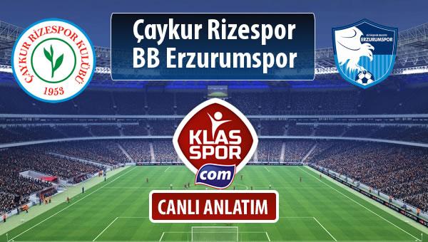 Çaykur Rizespor - BB Erzurumspor maç kadroları belli oldu...