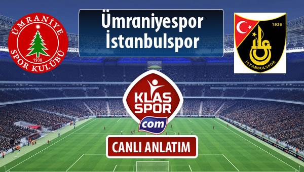 Ümraniyespor - İstanbulspor maç kadroları belli oldu...