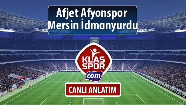 Afjet Afyonspor  - Mersin İdmanyurdu maç kadroları belli oldu...