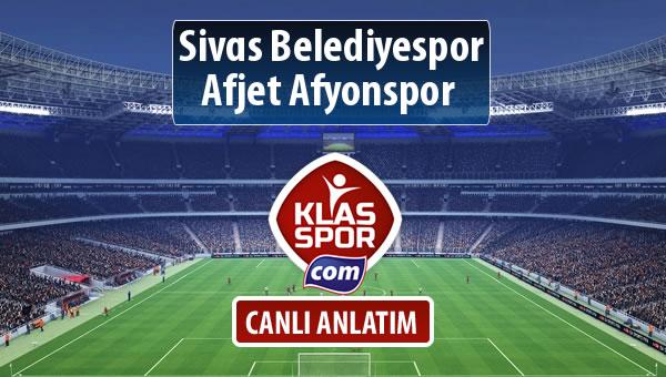İşte Sivas Belediyespor - Afjet Afyonspor  maçında ilk 11'ler