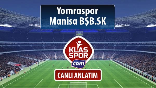 Yomraspor - Manisa BŞB.SK sahaya hangi kadro ile çıkıyor?