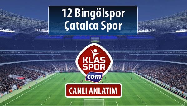 İşte 12 Bingölspor - Çatalca Spor maçında ilk 11'ler