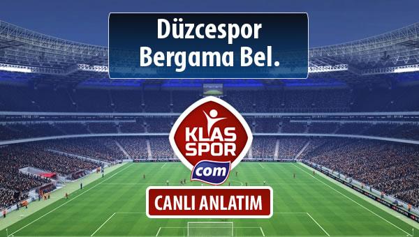 İşte Düzcespor - Bergama Bel. maçında ilk 11'ler