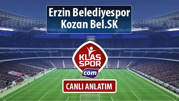 Erzin Belediyespor - Kozan Bel.SK sahaya hangi kadro ile çıkıyor?