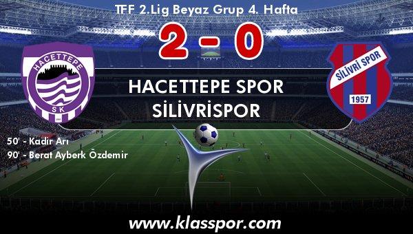 Hacettepe, Silivrispor'u 2 golle geçti