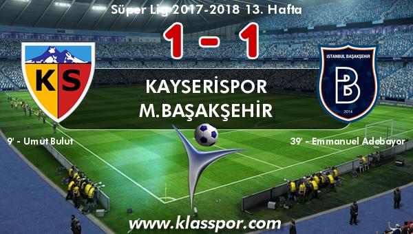 Kayserispor 1 - M.Başakşehir 1
