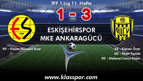 Ankaragücü, Eskişehirspor'u 3'ledi!