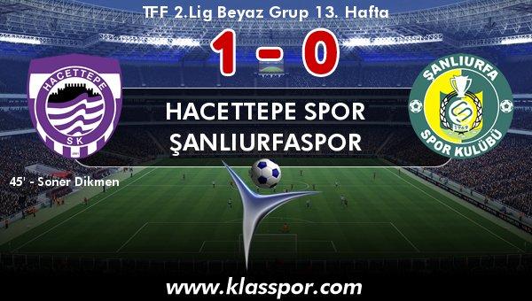 Hacettepe, Şanlıurfaspor'u tek golle geçti