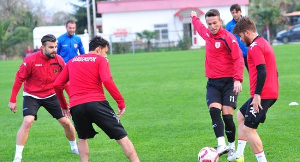 Samsunsporlu futbolcular iddialı