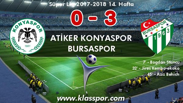 Atiker Konyaspor 0 - Bursaspor 3