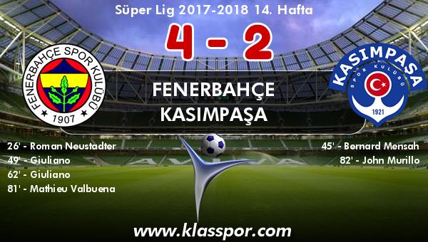 Fenerbahçe 4 - Kasımpaşa 2