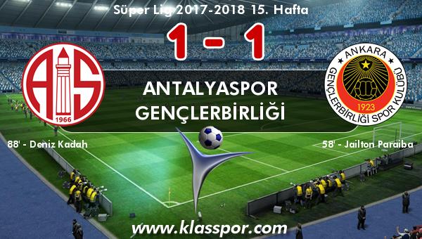 Antalyaspor 1 - Gençlerbirliği 1