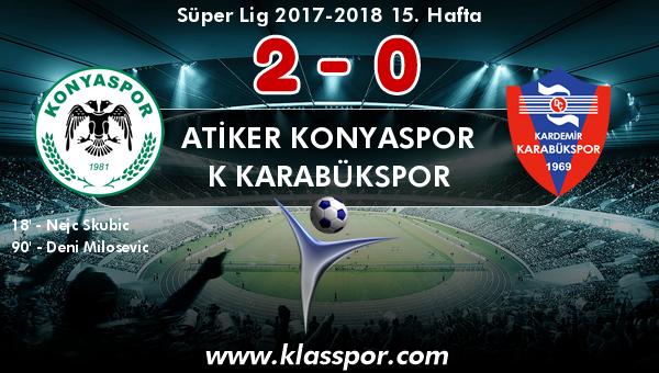 Atiker Konyaspor 2 - K Karabükspor 0