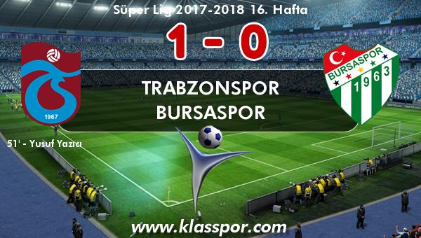 Trabzonspor 1 - Bursaspor 0
