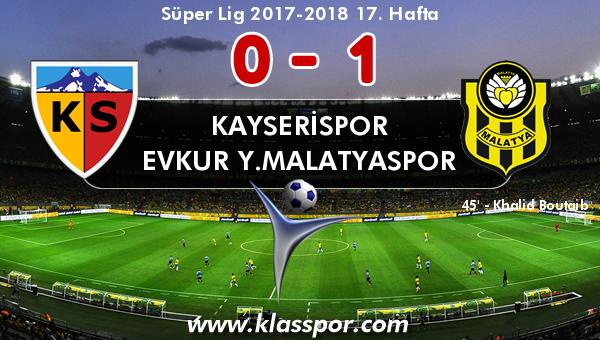 Kayserispor 0 - Evkur Y.Malatyaspor 1
