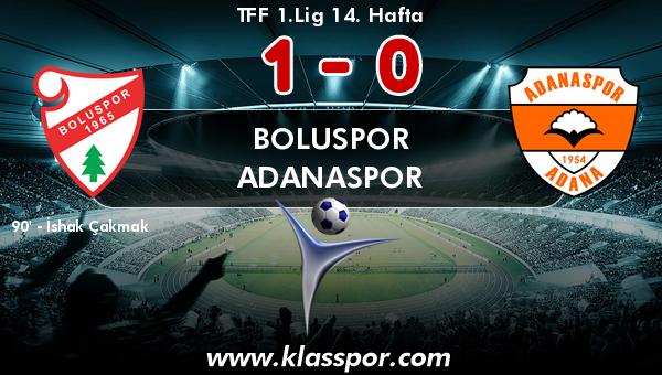 Boluspor 1 - Adanaspor 0
