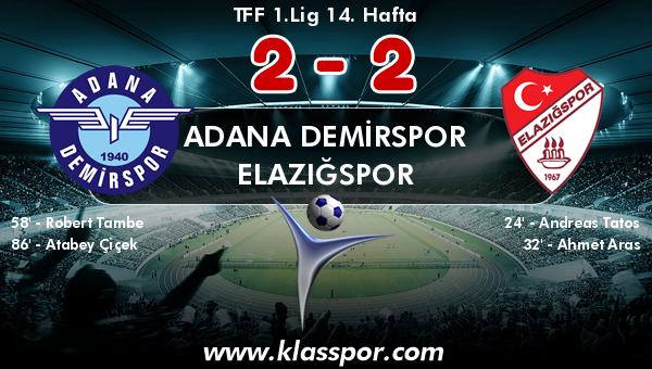 Adana Demirspor 2 - Elazığspor 2