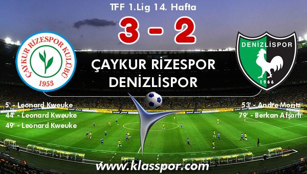 Çaykur Rizespor 3 - Denizlispor 2