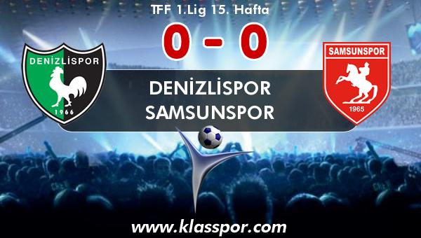 Denizlispor 0 - Samsunspor 0