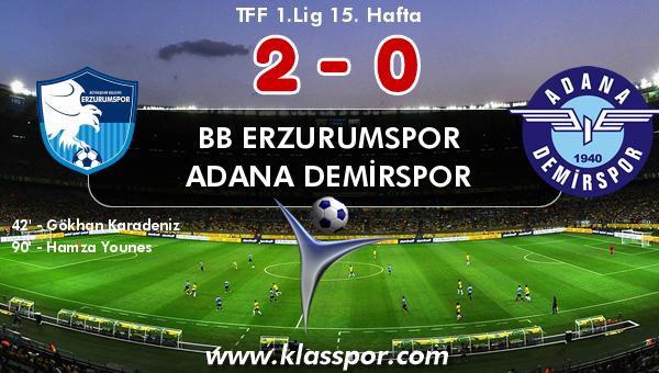 BB Erzurumspor 2 - Adana Demirspor 0