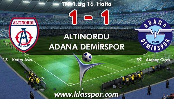 Altınordu 1 - Adana Demirspor 1
