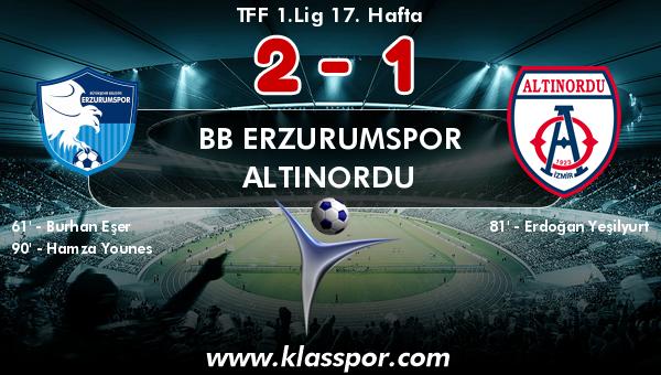 BB Erzurumspor 2 - Altınordu 1
