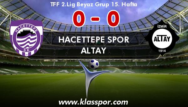 Hacettepe Spor 0 - Altay 0