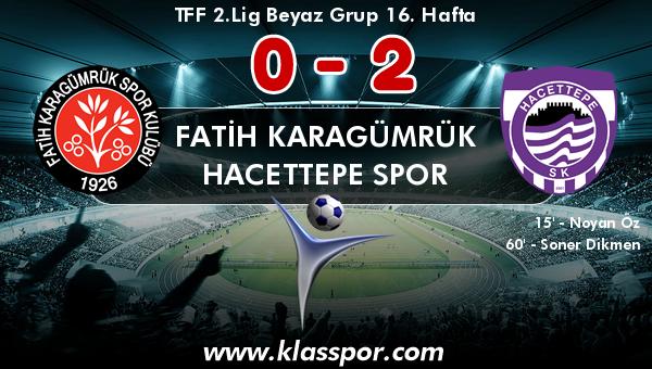 Fatih Karagümrük 0 - Hacettepe Spor 2