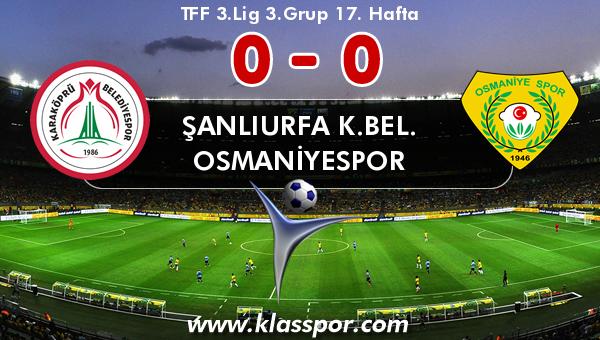 Şanlıurfa K.Bel. 0 - Osmaniyespor 0