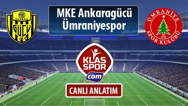 MKE Ankaragücü - Ümraniyespor sahaya hangi kadro ile çıkıyor?