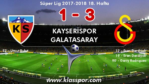 Kayserispor 1 - Galatasaray 3