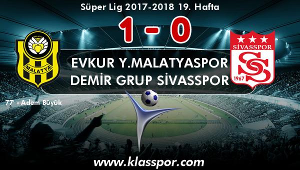 Evkur Y.Malatyaspor 1 - Demir Grup Sivasspor 0