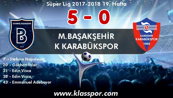 M.Başakşehir 5 - K Karabükspor 0