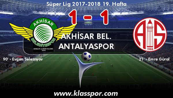 Akhisar Bel. 1 - Antalyaspor 1