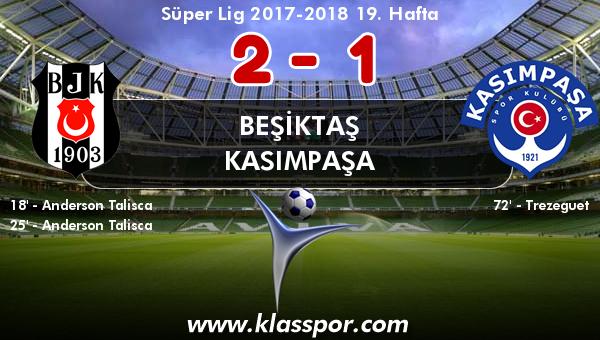 Beşiktaş 2 - Kasımpaşa 1