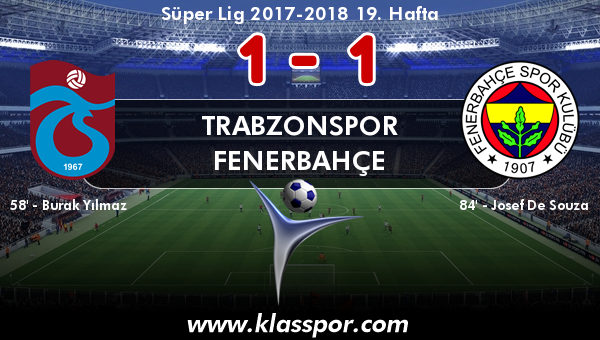 Trabzonspor 1 - Fenerbahçe 1